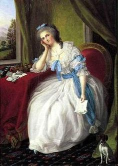 Portrait of a Lady with Love Letter, Ludwig GUTTENBRUNN
