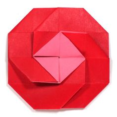 rose origami letter step by step tutorial