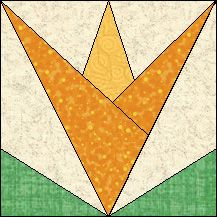 Block of Day for November 01, 2016 - Wild Tulip-foundation/paper piecing-The pattern may be downloaded until: Wednesday,  November 30, 2016.