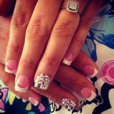 Elegant and fun wedding nails
