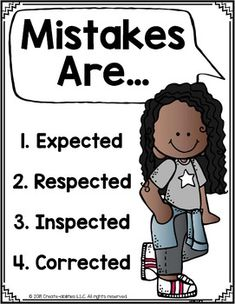 FREE Mistakes Are Posters for Growth Mindset - Growth Mindset - This FREE printable 10 page poster set is a great way to create a positive classroom climate. Classroom Behavior, Classroom Environment, Classroom Posters, Growth Mindset Classroom, Growth Mindset Posters, Classroom Expectations, Infant Classroom, 4th Grade Classroom, Great Expectations
