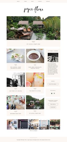 Paper Fleur, a lovely, light and airy lifestyle blog running on Station Seven's Kindred WordPress theme.