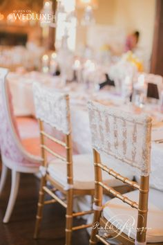 Vintage Lace Chair Covers