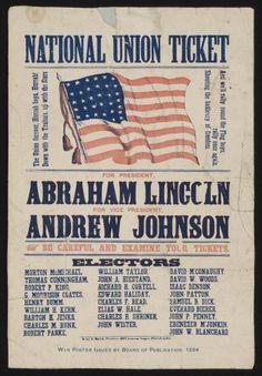 Lincoln/Johnson 1864. - #history #politics
