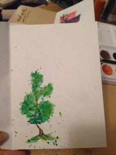 Watercolour card