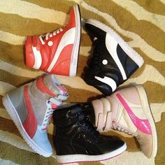 Decisions decisions, which #PUMA #skywedge to choose today #PUMAstyle #fashion #style #sneakers #shoes #wedge - @bbbbethany