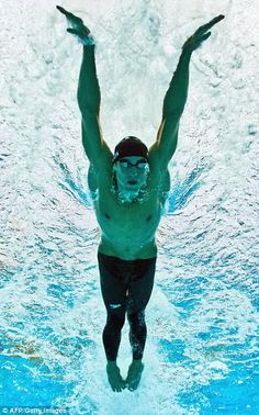 A great shot of Michael Phelps.