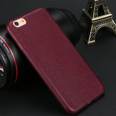 Red Leather iPhone 7 Plus Soft Case