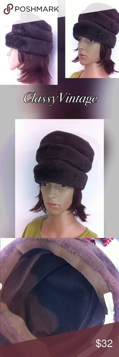 What a rare beauty by Brinschwig's Made in Zurich Switzerland and is the softest Cashmere hat ever. This hat can be pushed down to be shorter if needed. Imported by Hudson's Detroit . No flaws Brinschwig's Accessories
