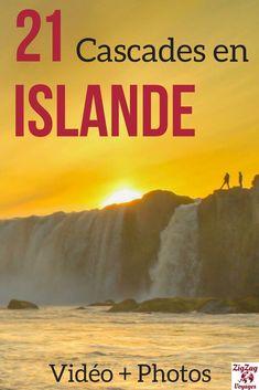 Islande Voyage - liste avec 21 des plus belles cascades en Islande à considérér pour votre itinéraire | #islande | Islande itinéraire