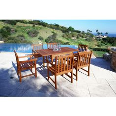Found It At Wayfair Del Mar 5 Piece Dining Set With Cushions Deck Backyard Pinterest Garden And Decking