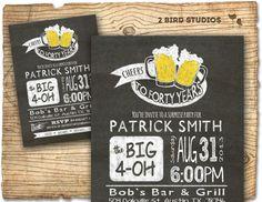 30th birthday invitation - Beer birthday party invitations- 30th 40th 50th 60th - CHALKBOARD DIY printable invite on Etsy, $22.25 AUD