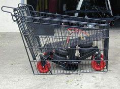 hahaha bagged a shopping cart