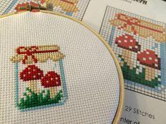 Mushroom Jar Cross Stitch Pattern