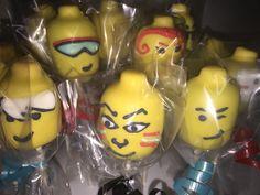 Lego Head Cake Pops www.facebook.com/FriscoCakePopShop  www.FriscoCakePopShop.com www.instagram.com/FriscoCakePopShop