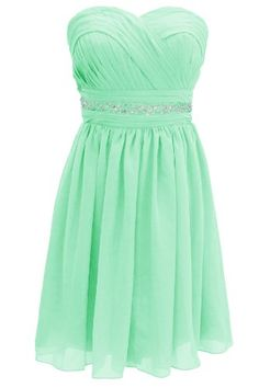 70b388f61ec Dressystar Short Knee-length Mint Plus Size Bridesmaid Dresses Size