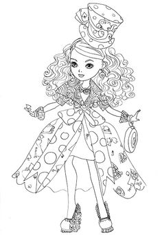 Kara Realm: Ever After High Coloring Pages