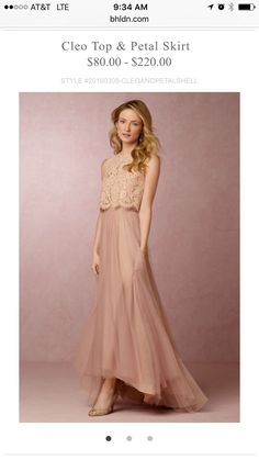Anthropologie Bridesmaid Dress