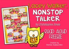 I have a read aloud response and craft activity that you can use at the beginning of the school year when you are establishing your classroom rules.Listening is such an important social skill. Students need to learn how to listen respectfully to each other, as well as being able to talk and share their ideas.In the story, Lacey Walker Nonstop Talker, Lacey loves to talk.