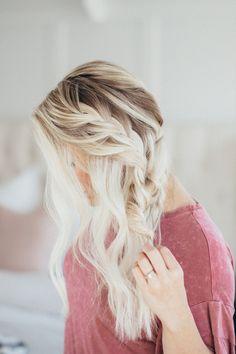 Wedding Hairstyle!!! The prettiest formal side braid – EASY