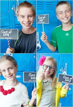 """Free printable """"Class Of"""" signs for back to school photo booth #backtoschool #freeprintables"""