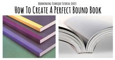 Perfect Binding Bookbinding Tutorial: A quick tutorial to a perfect bound book. This is a great introduction to bookbinding as well. Handmade Journals, Handmade Books, Handmade Rugs, Handmade Crafts, Diy Crafts, Origami, Bookbinding Tutorial, Bookbinding Ideas, Book Repair