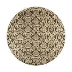 Shabby vintage black faux gold floral damask paper plate  sc 1 st  Pinterest & Burlap and Lace Shabby Chic Paper Plates