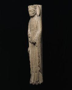 Column Statue of a King. Date: ca. 1150–60 Geography: Made in Saint-Denis Culture: French Medium: Limestone