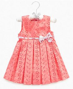 First Impressions Baby Dress, Baby Girls Satin Hanger Eyelet Dress and Bloomers - Kids Baby Girl (0-24 months) - Macy's