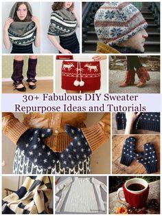 30+ Fabulous DIY Sweater Repurpose Ideas and Tutorials | www.FabArtDIY.com