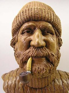 This awesome full size man wood carved sculpture was done from one single piece of oak by the amazing British sculptor Thomson Dagnall. Description from pinterest.com. I searched for this on bing.com/images
