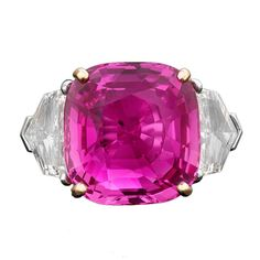 Natural Intense Pink Ceylon Sapphire, 17.51 Carats - 1stdibs.com