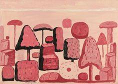 Farnesina Garden, Rome -Philip Guston,1971 (Lyman Allyn Art Museum, New London, Connecticut)