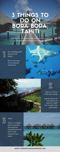 3 things to do on Bora Bora, Tahiti - chiara Us Travel Destinations, Beach Honeymoon Destinations, Places To Travel, Places To Go, Cheap Honeymoon, Romantic Vacations, Romantic Travel, Dream Vacations, Vacation Spots