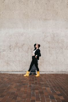 is something missing in your fall shoe wardrobe? we think we know what it is... 👀 Yellow Rain Boots, Shoe Wardrobe, Fall Shoes, Contemporary Style, Calves, Women, Baby Cows, Woman