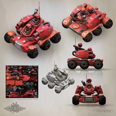 ArtStation - Blue Rider's enemy 09, Ravegan Games