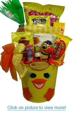 Deluxe easter delights gourmet gift basket for the whole family delight expressions easter duck pail a easter gift basket idea for kids negle Image collections