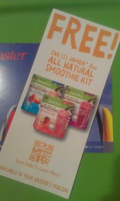 @athomesmoothie - I received a free coupon for a #JambaJuice smoothie pack from @influenster ... I love the Strawberry Wild flavor.  #SurfsUpVoxBox