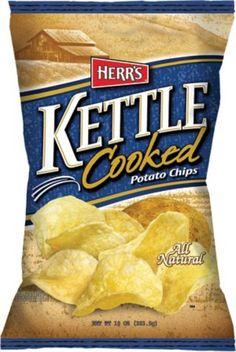 Herr's Original Kettle Potato Chips 1.9 oz Bags - Pack of 24