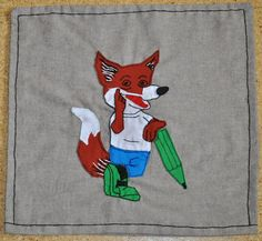 funny handmade fox pillow case, schlaufuchs