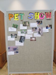Crozet Library staff always does cool stuff in the summer! People bring in pictures of their pets.