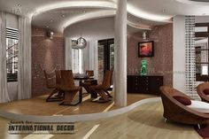 #Suspended #ceiling design with hidden #lights