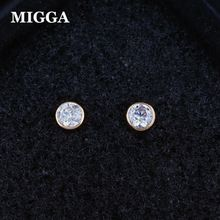 US $2.09     Buy Jewelry At Wholesale Prices!     FREE Shipping Worldwide     Buy one here---> http://jewelry-steals.com/products/migga-classic-small-4mm-clear-austrian-crystal-stud-earrings-for-women-girls-rose-gold-color-jewelry/    #silverjewelry