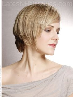 Sleek Tapered Blonde Style Side View