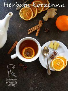 Kulinarne przygody Gatity: Zimowa herbata korzenna Tea For One, Chocolate, Drinking Tea, Tea Time, Tea Pots, Sweet Tooth, Dessert Recipes, Food And Drink, Sweets