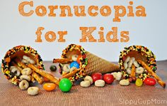 Cornucopia for Kids Craft and Snack