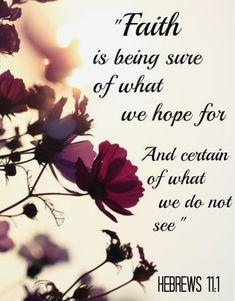 Hebrews 11:1 the just shall live by faith