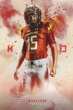Maryland football posters on behance as i am sports graphic Sports Graphic Design, Sport Design, Banners, Effects Photoshop, Sport Inspiration, Design Inspiration, Football Design, Sports Graphics, Football Posters