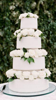 Huge Wedding Cakes, Wedding Cake Rustic, Elegant Wedding Cakes, Wedding Desserts, Wedding Decorations, Christmas Themed Cake, Monochrome Weddings, Enchanted Forest Wedding, Wedding Venues Texas