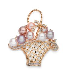 Basket Of Flowers Brooch - Heming Jewellers London - Diamond Rings, Diamond Jewellery, Watches and Antiques.
